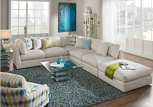 picture of Cindy Crawford Home Crosby Street Left 4 Pc Sectional from Living Room Sets Furniture : cindy crawford 3 piece sectional - Sectionals, Sofas & Couches