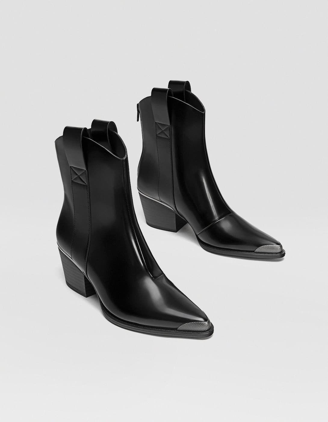 Czarne Kowbojki Wszystkie Stradivarius Polska Boots Boots Outfit Ankle Black Cowgirl Boots