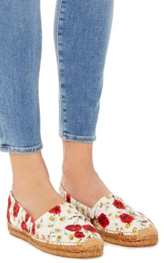 Poppy Printed Espadrilles by Dolce & Gabbana