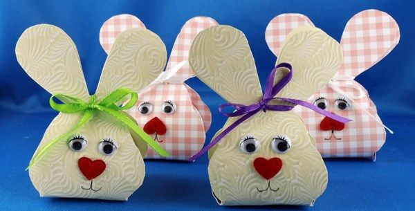 Basteltipp Ostern: Kleine Hasenschachteln