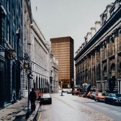 Mies van der Rohe . Mansion House Square . London (1)