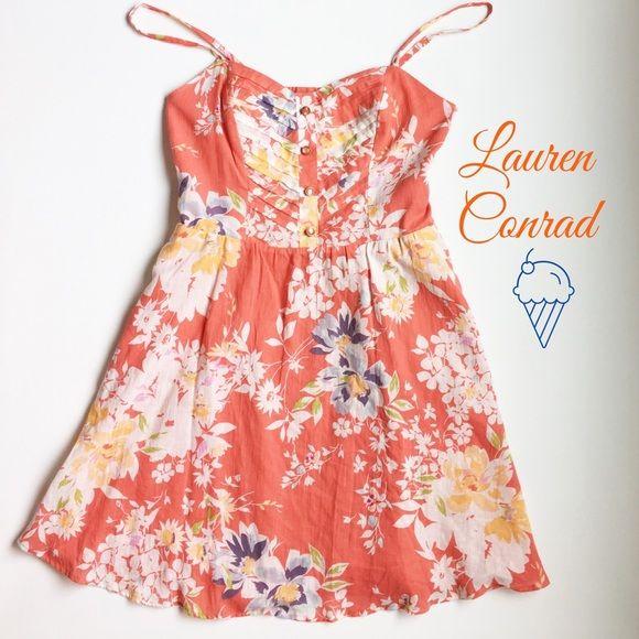 Lauren Conrad Coral Sundress | Pinterest
