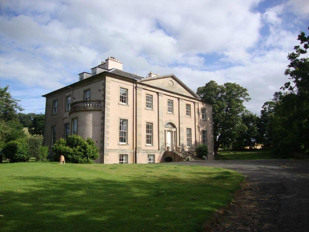 The amazing Crailing House near Jedburgh, sleeping 12