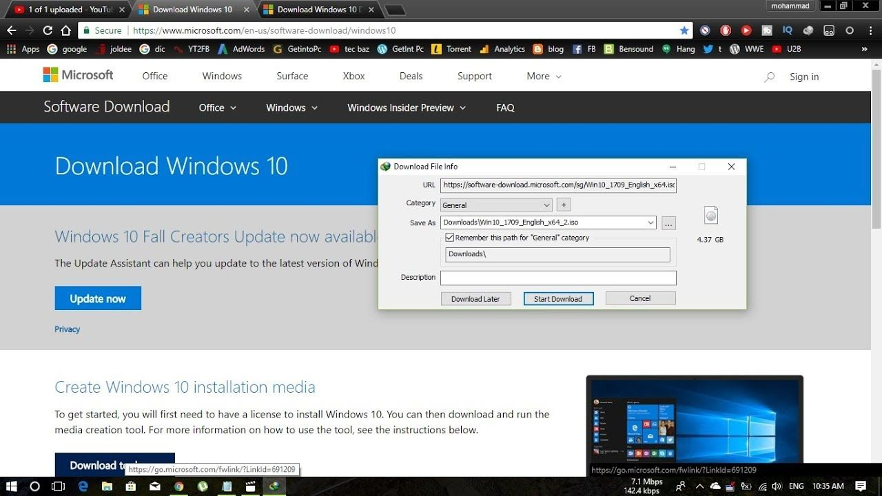 How To Download Windows 10 Iso File From Microsoft Official Site With Idm Windows 10 Microsoft Microsoft Office