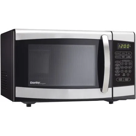 Danby 0 7 Cu Ft Countertop Microwave 120 Volts Stainless Steel Microwave Countertops Steel