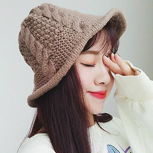 3a7528237 Women Knitted Beanie Basin Cap Fisherman Curling Hat Casual Outdoors ...