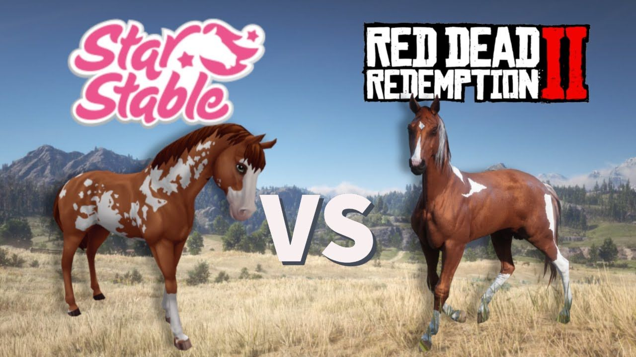 Star Stable Vs Red Dead Redemption 2 With Images Red Dead