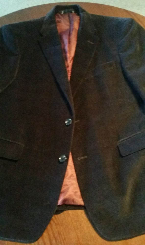 TOMMY HILFIGER Men's Navy Solid Cotton Classic Club Blazer Sport Coat Jacket S40 #TommyHilfiger #TwoButton