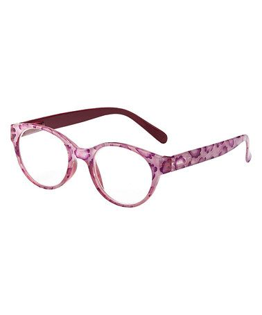 Love this Pink Laney Eye Candy Reader on #zulily! # ... |Rose Colored Glasses Readers