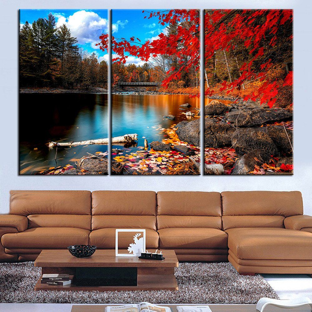 Living Room Canvas Paintings Modern Nordic Decoration Landscape Painting Canvas Pictures For