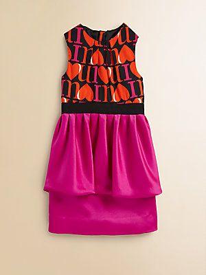 Milly Minis Girl's Pippa Peplum Dress