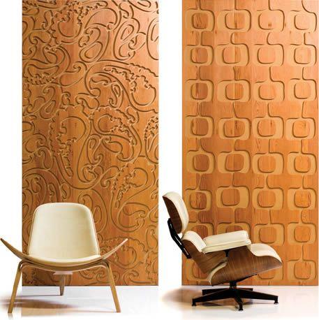 Revestimiento para paredes interiores en madera for Placas de madera para revestimiento interior