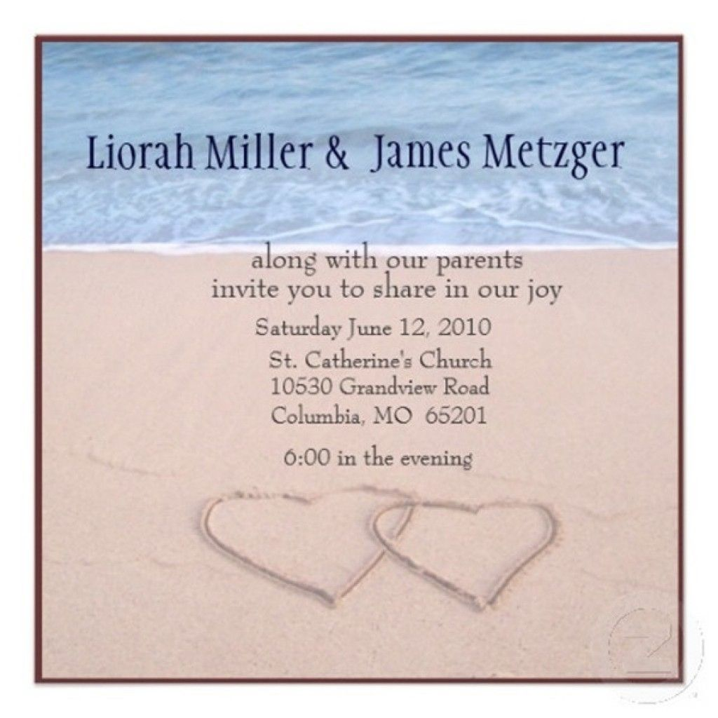 Free Beach Wedding Invitation Templates To Download 5 | Stuff to Buy ...