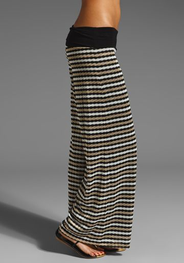 KARINA GRIMALDI Knit Pants in White Knit