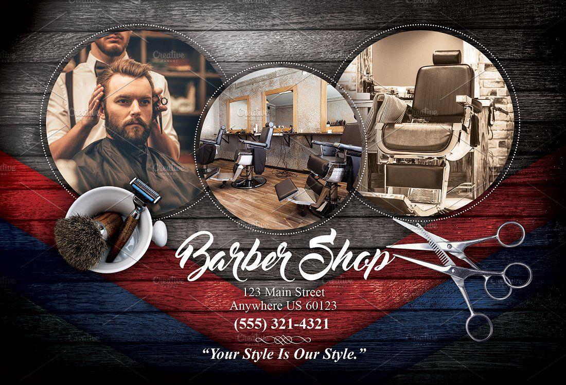 Barber Shop Flyer By Natebartlett On Creativemarket