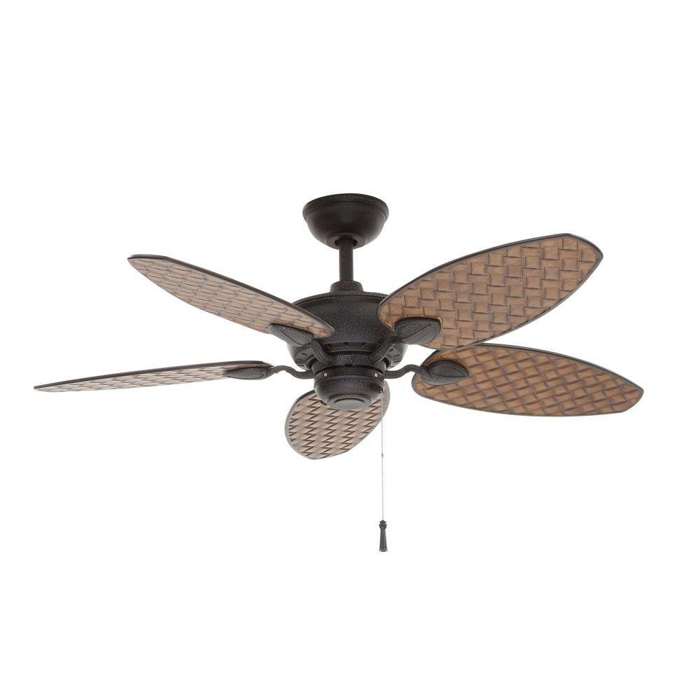 Hampton Bay Largo 48 In Gilded Iron Outdoor Ceiling Fan 26684