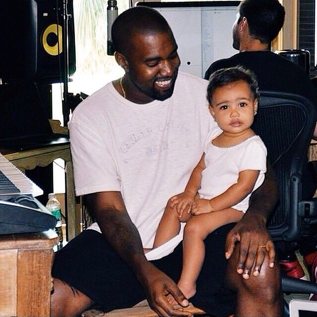 Kanye West North West Daddy Daughter Father Love Interacial Happy Family Celebrity Dads Kim And Kourtney Celebrities