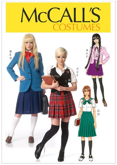 McCall\'s Patterns - M7141 - Misses\' Costumes. School uniform ...