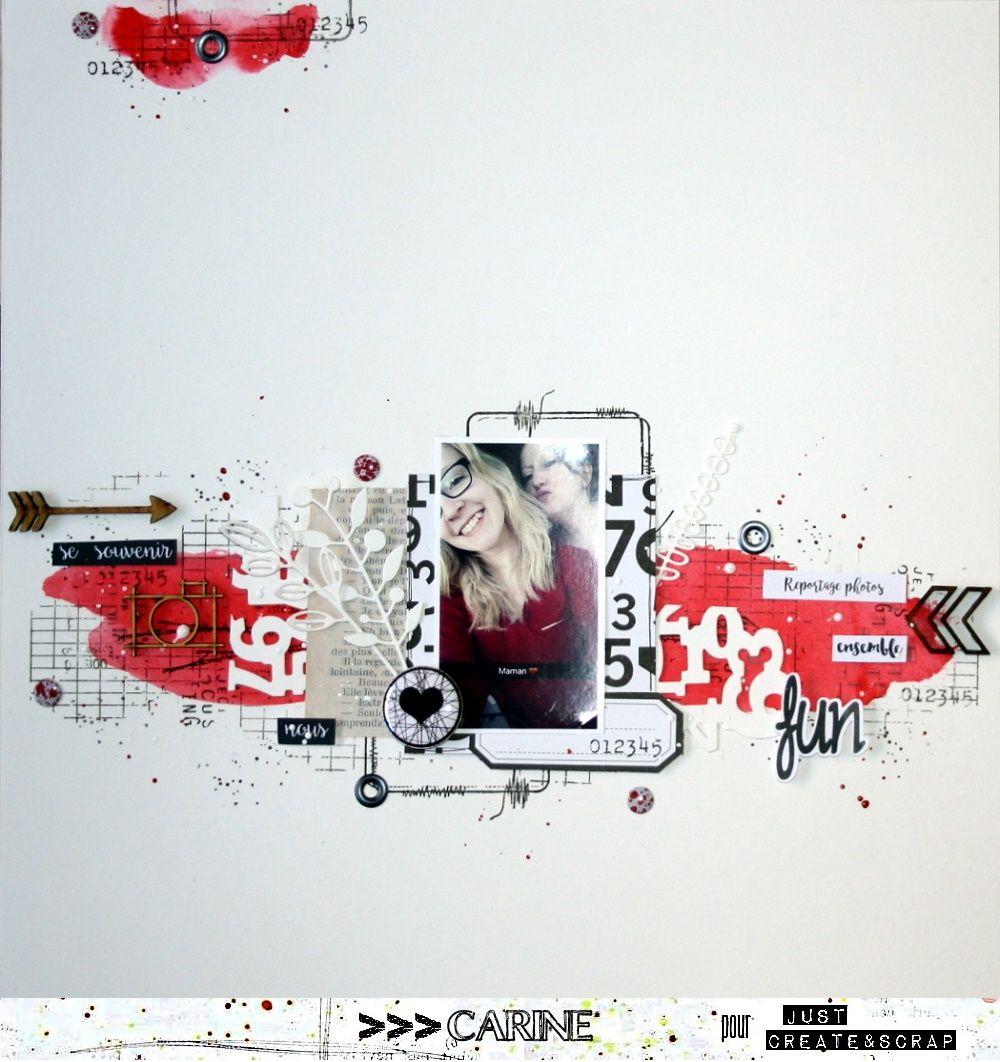 Sketch#220 – Challenge de Noël 1 | Scrapbooking, Scrap and Scrapbook