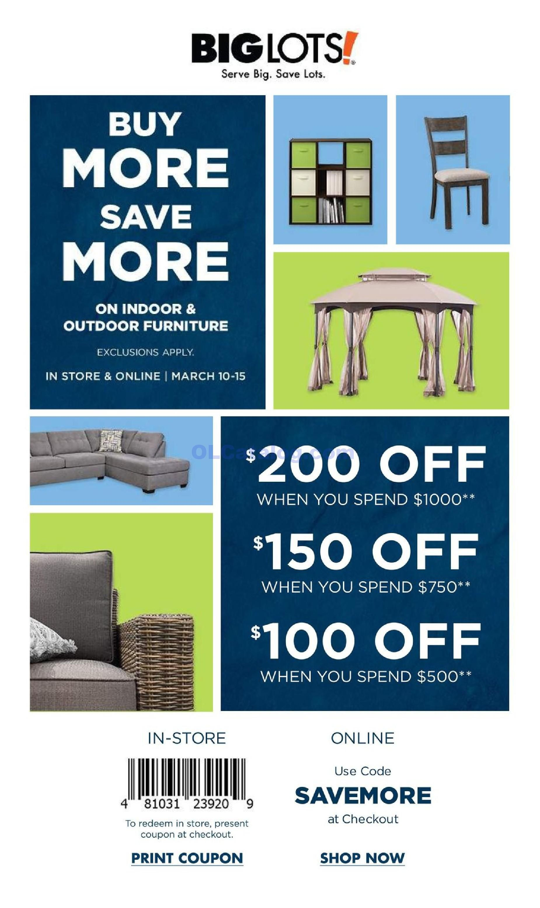 Big Lots weekly Ad March 10 15, 2019. Do you know what's