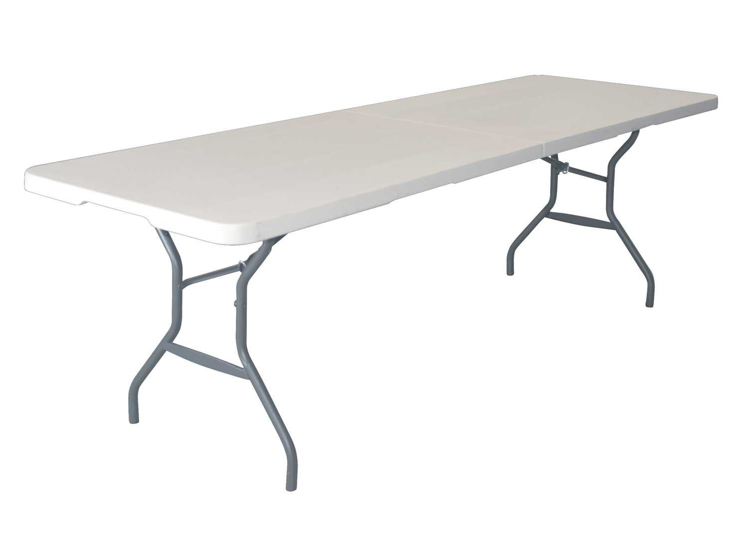 80169 Lifetime 8 Foot Light Commercial Fold In Half Table