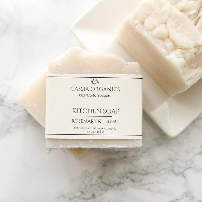 Vegan Kitchen Soap For Cleaning Rosemary Thyme Laundry Soap Bar