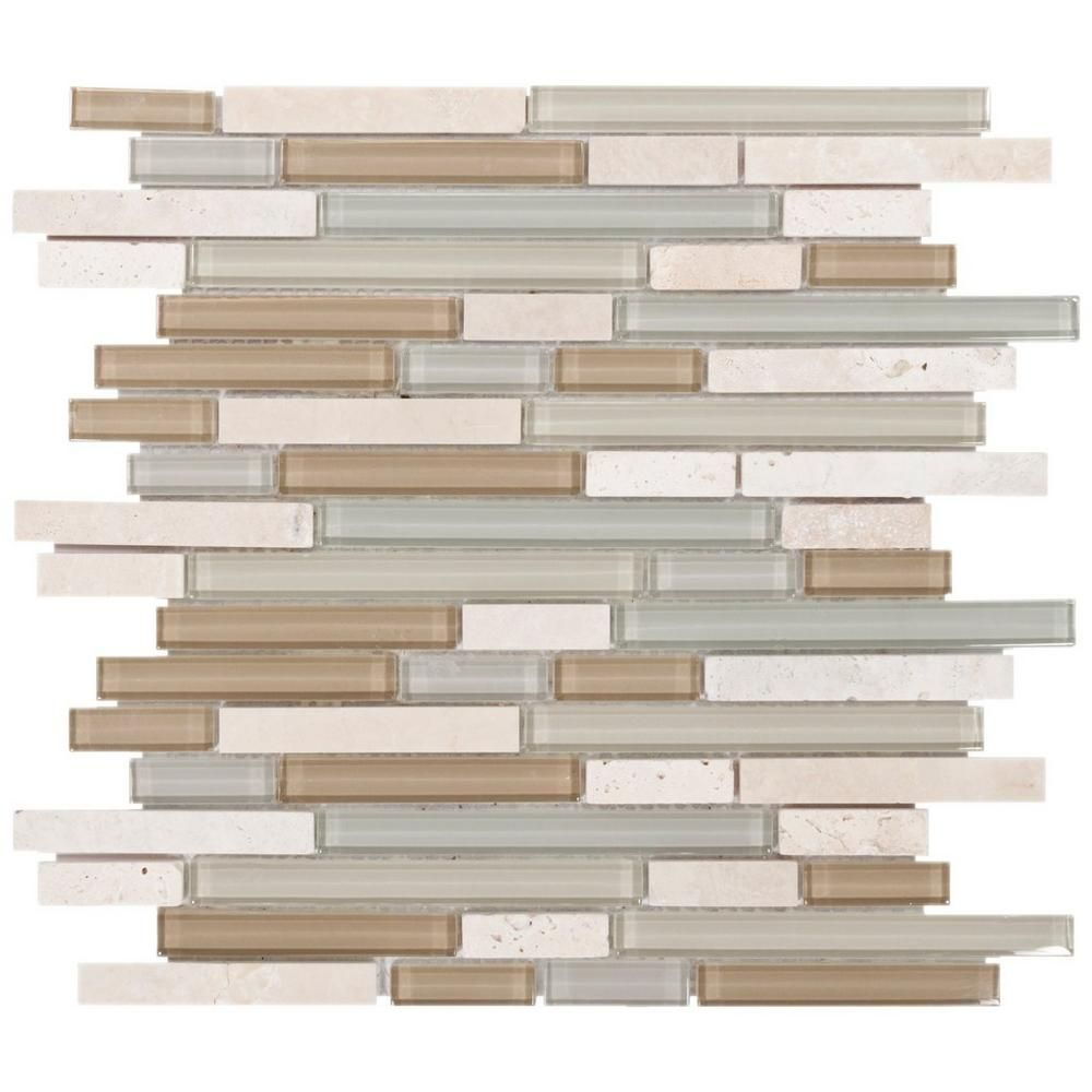 Spa linear blend glass and stone mosaic bliss spa stone mosaic bliss spa linear blend glass and stone mosaic 12in x 12in 913500519 dailygadgetfo Choice Image