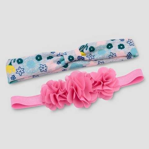 e3dbc4164 Just One You made by Carter Baby Girls' 2pk Flower Headwrap - Pink  #babygirl, #headband, #target, #promotion