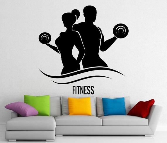 fitness wall vinyl decal gym sticker home interior murals art