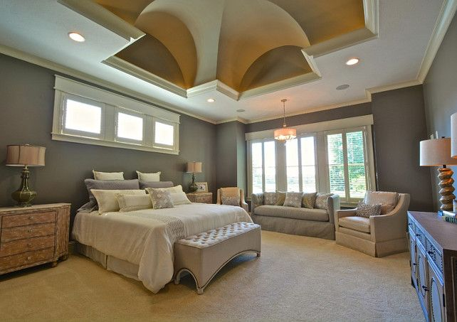 Great Beautifully Decorated Bedroom With Stunning Ceiling Design. #Bedroom  #BedroomDesign