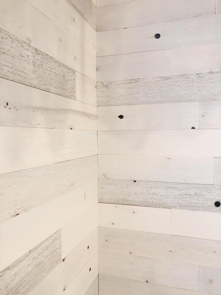 Diy Hallway Reveal The Curated Farmhouse Diy Shiplap Diy Shiplap Fireplace Peel And Stick Shiplap