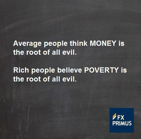 Average People Think Money Is The Root Of All Evil Rich People