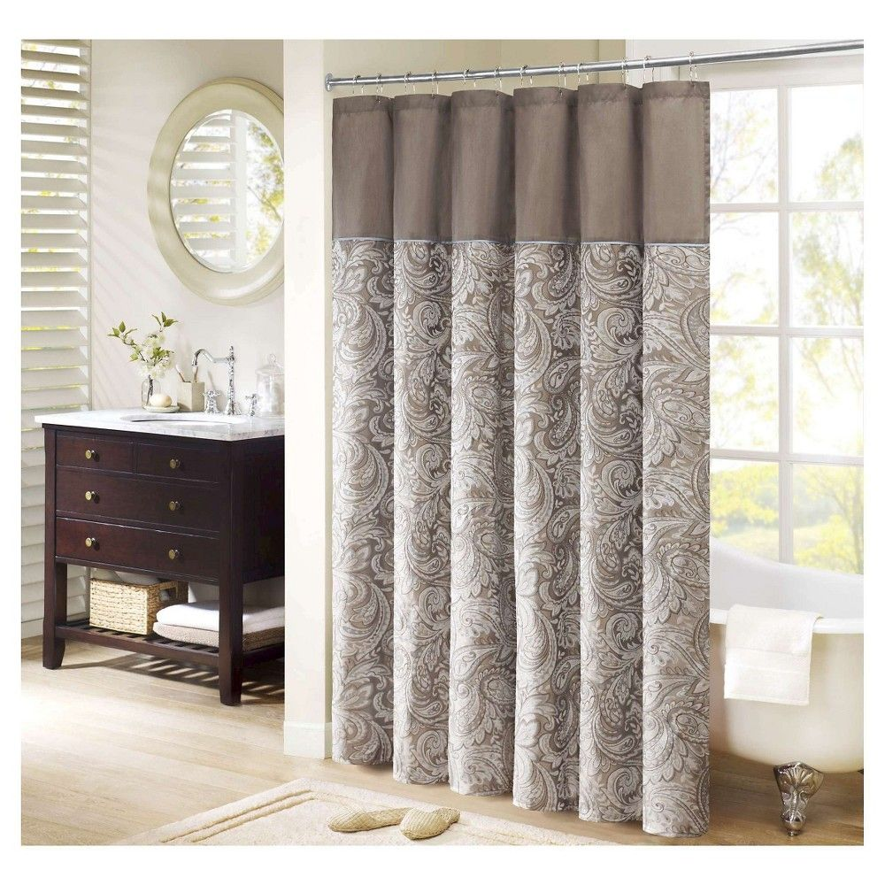Contact fremont polyester jacquard shower curtain blue