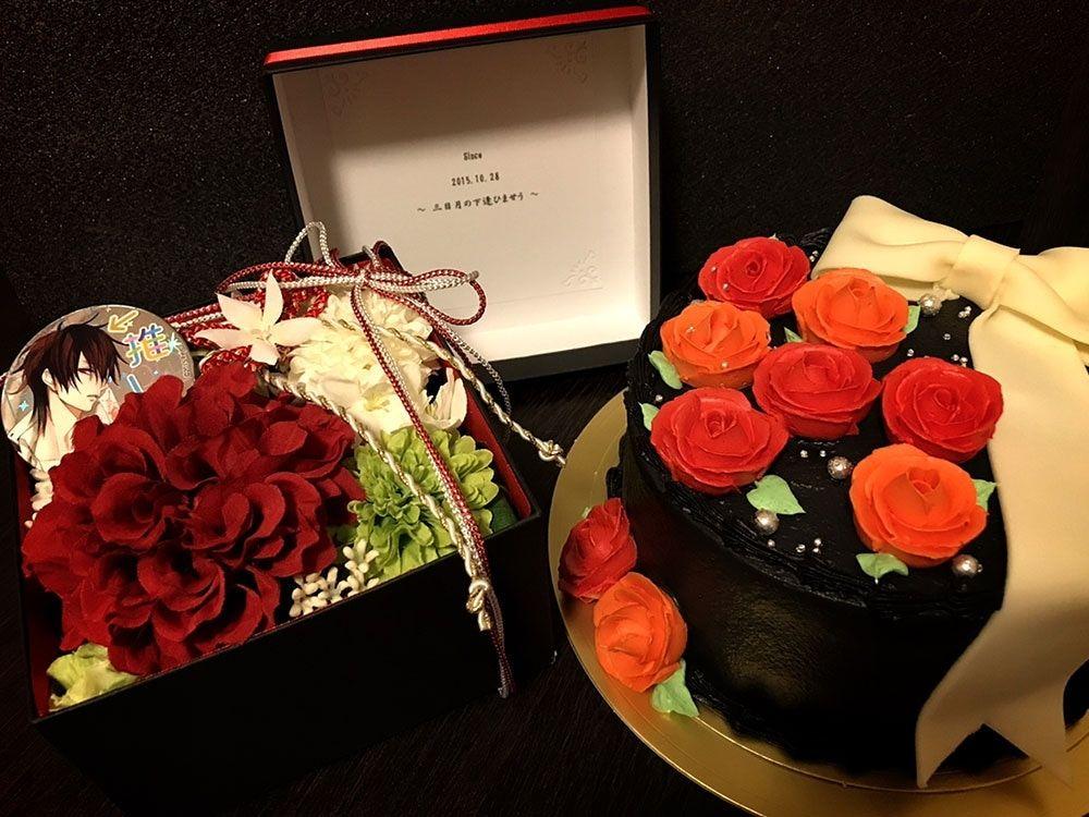 オタク向け誕生日用のオーダーケーキ 創作ケーキ キャラクターケーキ プリント ケーキ ケーキ オーダー