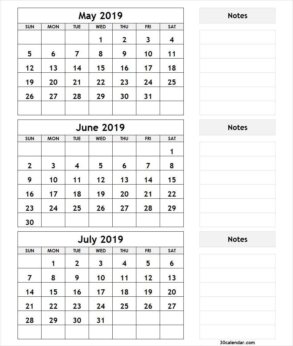 Dashing 3 Month Blank Printable Calendar In 2020 3 Month Calendar Calendar Printables Monthly Calendar Printable 3 month blank calendar template