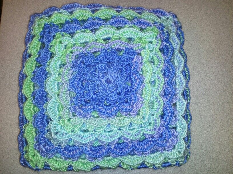Textured Granny from Mary Maxim | Afghans | Crochet squares, Crochet