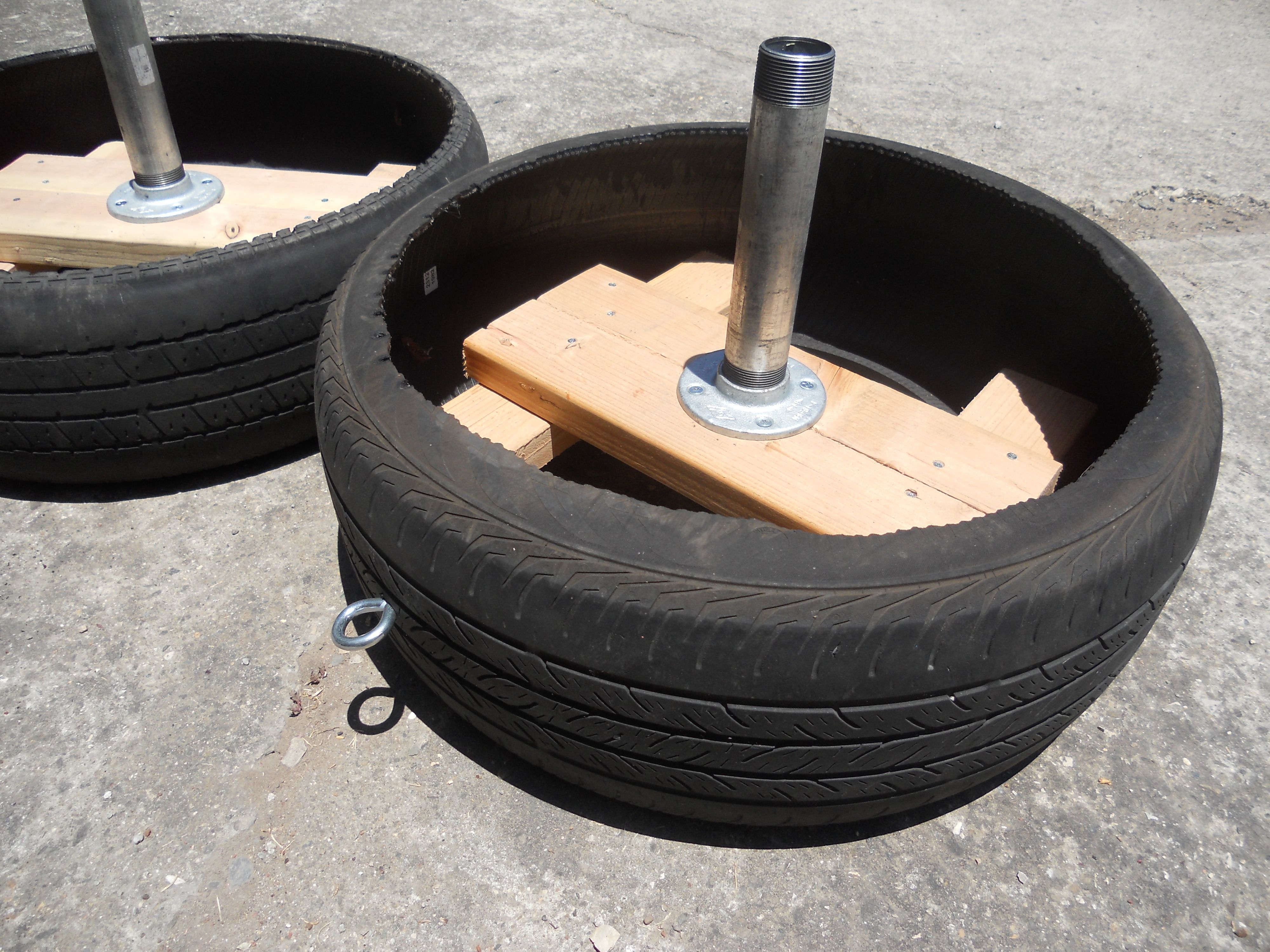 Diy strength tire sled 2 0 strength training equipment for Diy tire