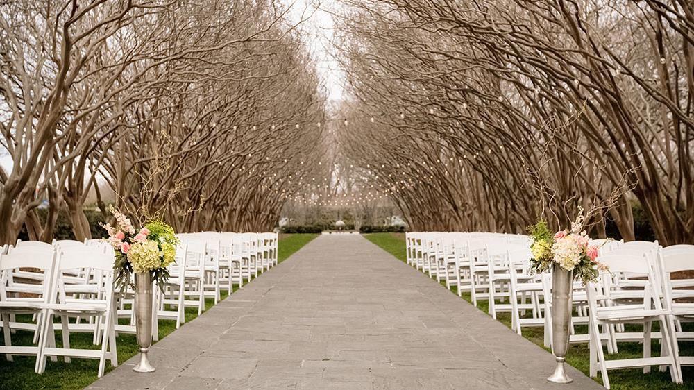 Wedding Ceremony Dallas Arboretum E Myrtle Allee