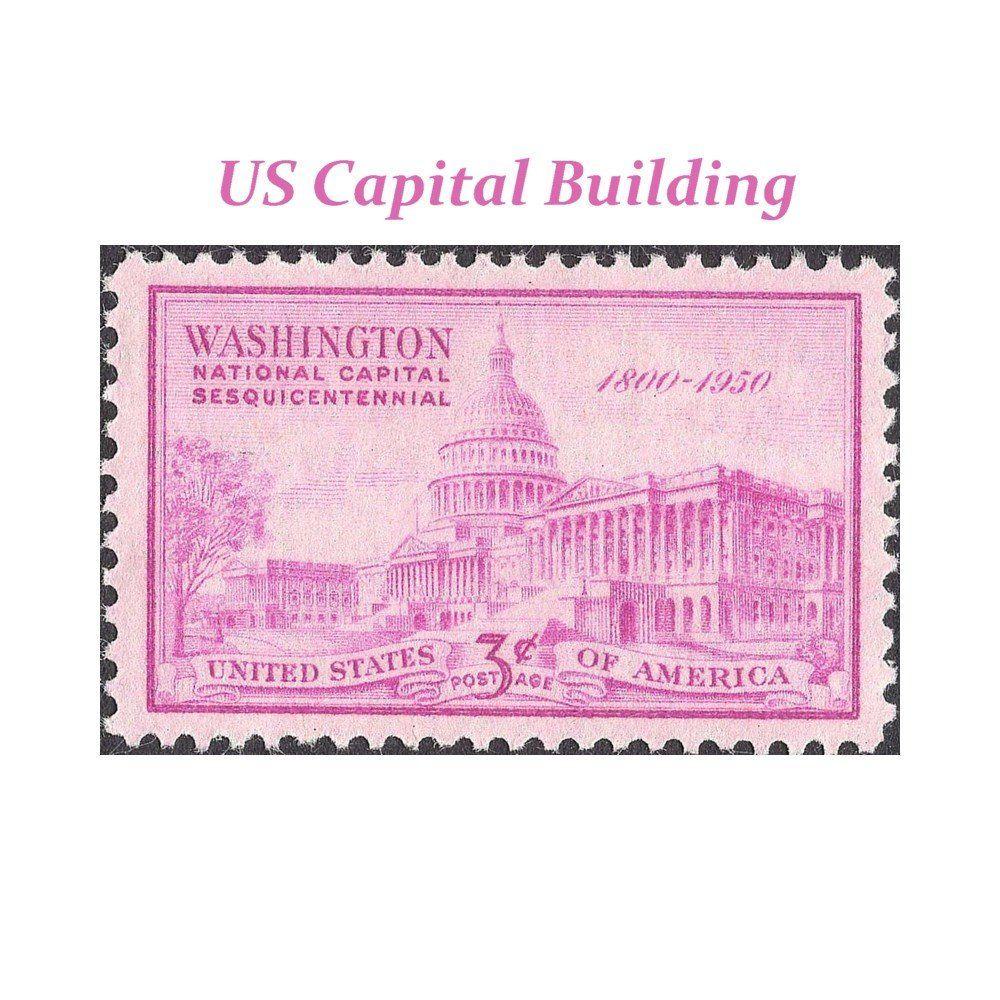 3c US Capital Building Stamp Unused Postage Stamps Pack Of 10