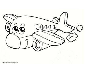 Coloriages De Vehicules Coloriage Avion Coloriage Et Coloriage