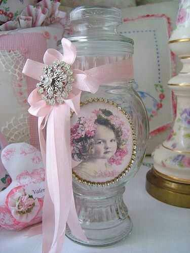 DIY.. Sweet Vintage Victorian Styled Makeover With Ribbons and Free Printable