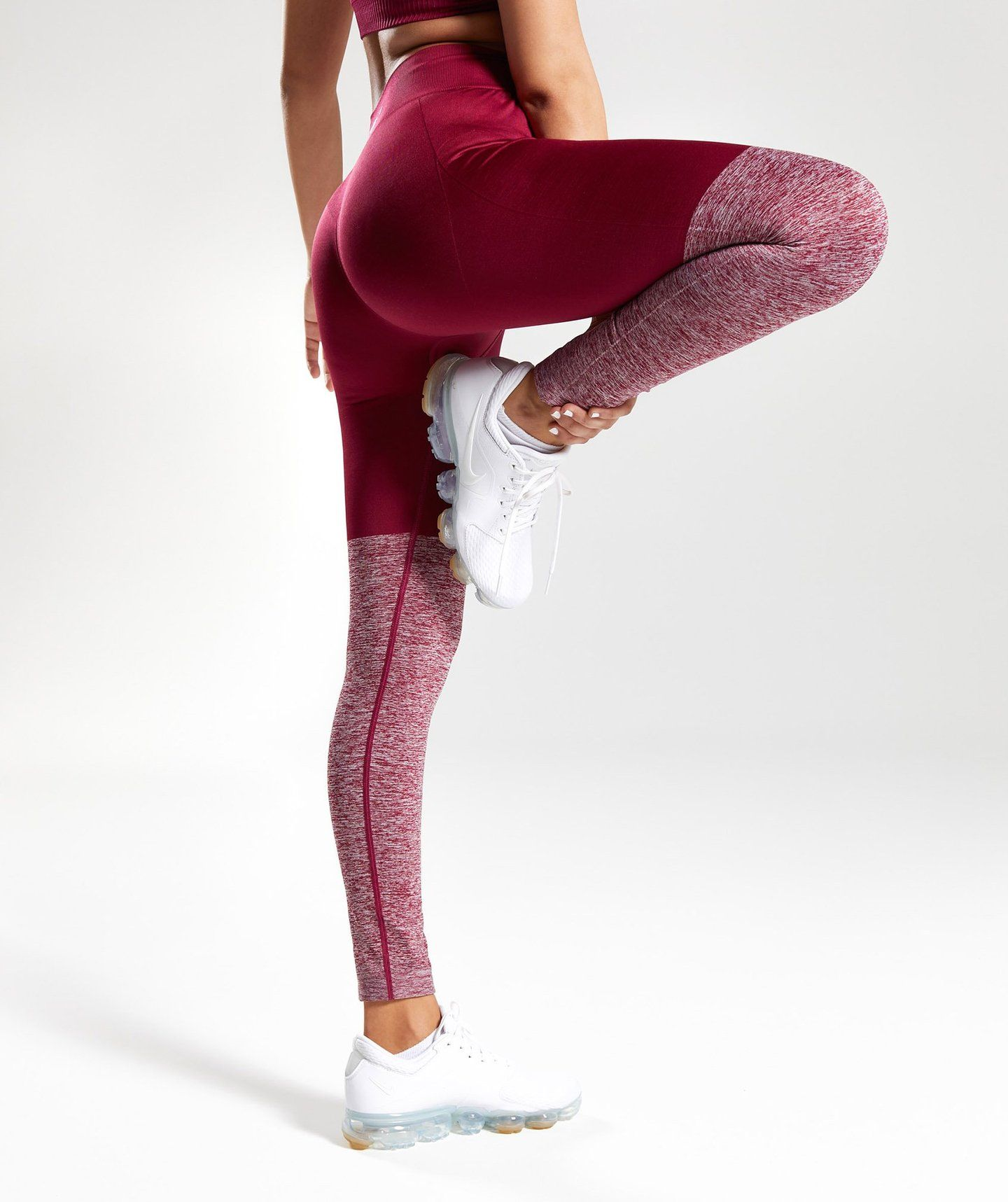 9d756914ac Gymshark TwoTone Seamless Leggings - Beet Beet Marl 4