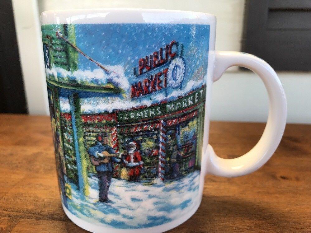 Starbucks Vtg Christmas Mug Seattle Pikes Place
