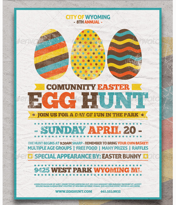 Easter Egg Hunt Flyer Template - Party Flyer Templates For ...