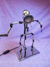 Cool Vintage Portable Luminaire Jointed Poseable Figural Man Desk Table Lamp