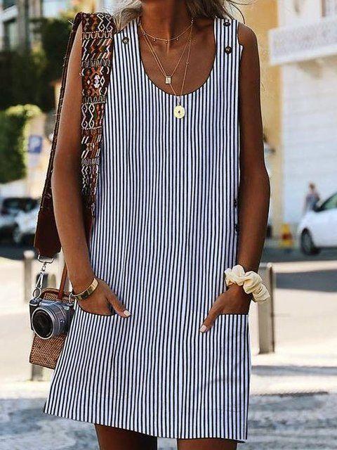 d3ecb7a10b Online Shopping Justfashionnow Shirt Dress 1 Casual Dresses Daily Shift  Crew Neck Sleeveless Boho Printed Dresses
