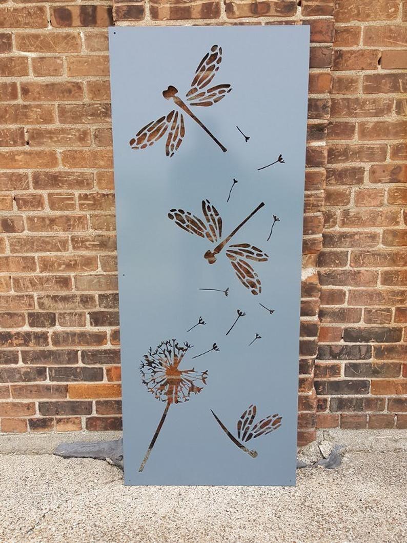 Metal Privacy Screen Decorative Panel Outdoor Garden Fence ...