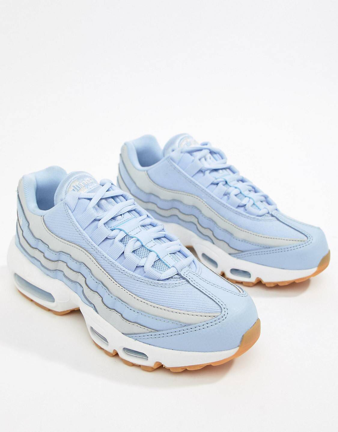 factory outlets utterly stylish 2018 shoes Nike Blue And Grey Ombre Air Max 95 Trainers in 2019 ...