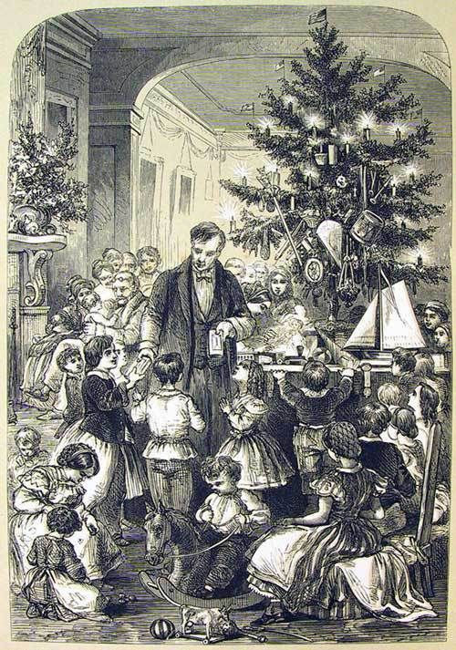An Old Fashioned Christmas During The 1850 S Victorian Christmas Tree Victorian Christmas Old Fashioned Christmas