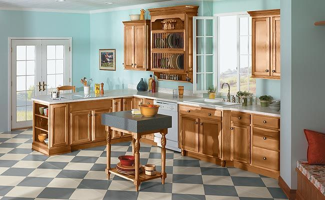 Merillat Classic® Spring Valley Arch  Maple Wood, Toffee Finish
